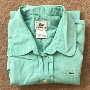 Green Lacoste button down